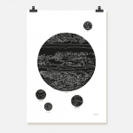 Jupiter svart på vit