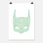 Batman mint på vit