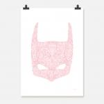 Batman rosa på vit