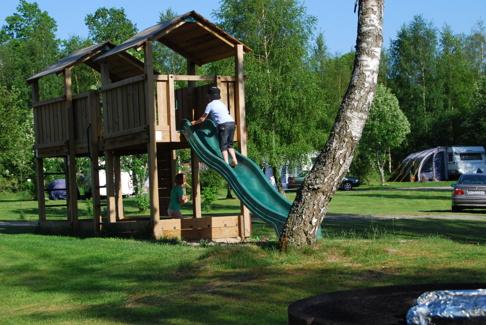 En av våra lekplatser på Våxtorps Camping och Stugby