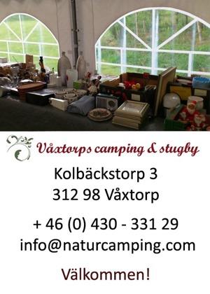 Loppistält på Våxtorps Camping och Stugby