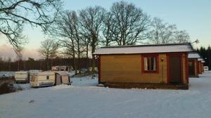 Vinter på Våxtorps Camping och Stugby