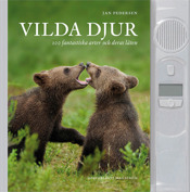 """Vilda djur. """"Sounds Of The Wild"""". A soundbook like  """"Birdsong"""". 100 animals worldwide from insects to whales lavisly illustrated. A big succes in Sweden and publihed in 7 languages. In Sweden 2011."""