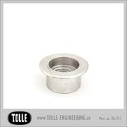 Gas cap socket, aluminium