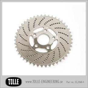 Sprocket brake rotor 46 teeth - Drilled 46 teeth