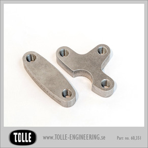 Mounting Tabs for fotcontrols on Harley frames - Mounting Tabs