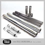 Tolle fork tubes with dampers & progressive springs/Showa