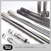 Tolle fork tubes with dampers & progressive springs/ Hydra