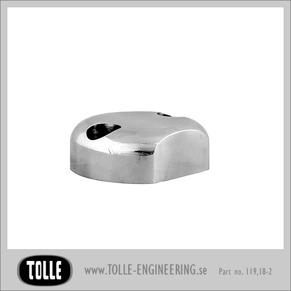 Fork axel pinch cap Standard,  Ballmilled/ classic - Överfall Standard