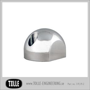 Fork axel pinch cap round, ballmilled/classic - Fork axel pinch cap ball, ballmilled/classic