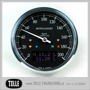 Motogadget Chronoclassic Speedo - mst Motogadget Chronoclassic Speedo Black LCD/Black anodized/Polished ring