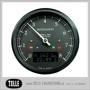 Motogadget Chronoclassic 8k Tacho - mst Motogadget Chronoclassic Black LCD/Black anodized/Polished ring