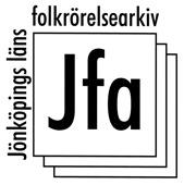 Jönköpings läns folkrörelsearkivs logga.