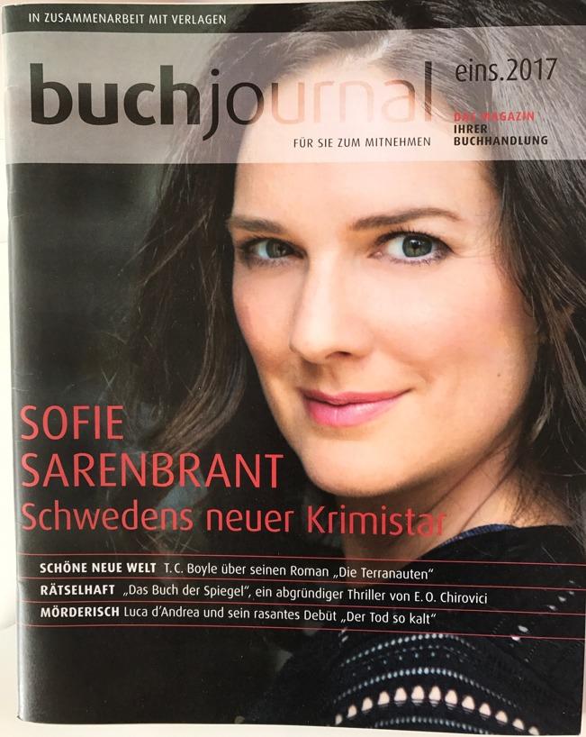 Tysklands största boktidning, Buchjournal, som finns hos 2700 boklådor.
