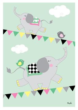 Elefanter på lina - Mint