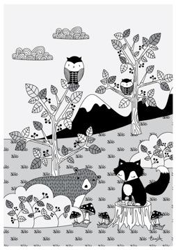 Skogen i svartvitt - REA 50 %