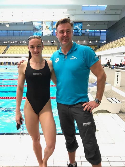 Katinka Hosszu och Swim Opengeneralen Dennis Fredriksson