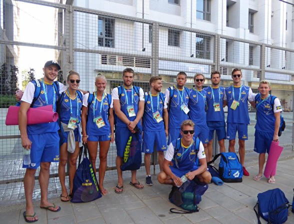 Den svenska Simtruppen till Universiaden 2017