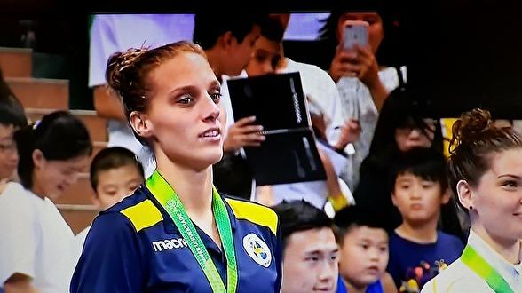 Brosanmedaljen för Jessica Eriksson på 50m bröstsim