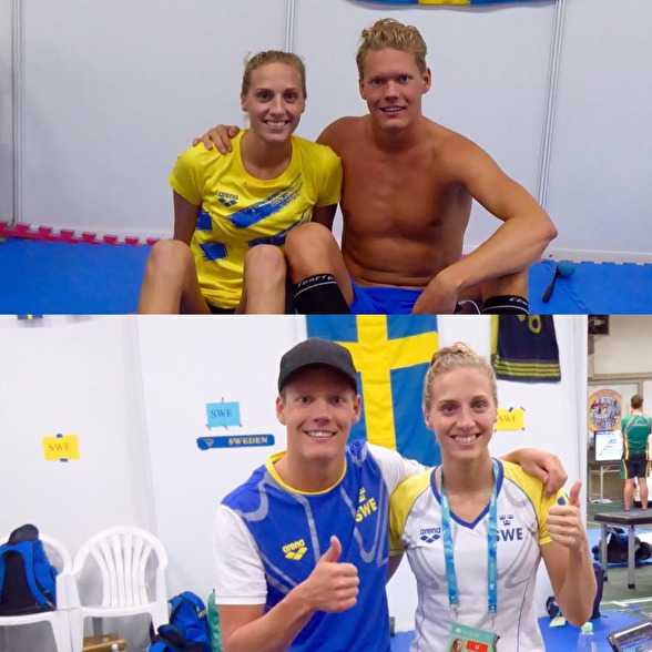 Idag var det mycket Jessica Eriksson och Adam Paulsson - Jessica medaljör och Adam slog sitt första svenska rekord