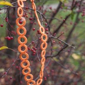 Virkat halsband (Orange)