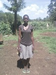 Mebo Wazemba - Undergoing a three year education for a degree in Community Development and Resource Management