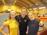 En nöjd Mats Nagle tillsammans med Tina och Annelie