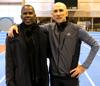 Bill Krohn med coach Jama Aiden
