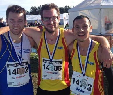Jonas och Alberto nöjda med sina 15 km-lopp