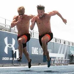 Tom och Carl i träning Foto: Håkan Andersson