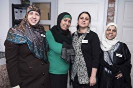 Zeina, Fatma, Fatme och Gharda. Foto: Urszula Striner.