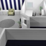 3D skiss-entré/reception
