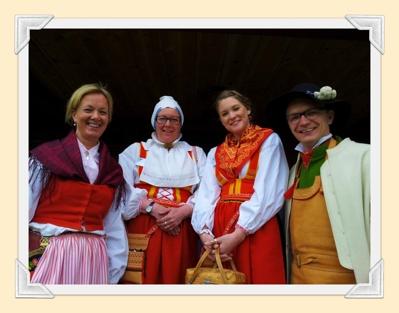 Liselott, Siv , Linnéa och Anders.