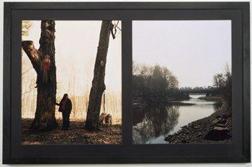 Eija-Liisa Ahtila, Scenographer's mind, 2002. Series of 18 photographs, two in each frame, hand coloured mat. Frame 89 x 206 or 107 x 170 cm. COURTESY MARIAN GOODMAN GALLERY NEW YORK, PARIS