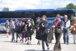 The bus arrives in Karlshamn at the University Östra Piren Foto Torun Ekstrand