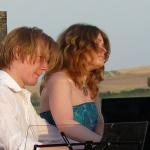 Johan Ullén and Terés Löf in four hands outdoor concert in Tuscany