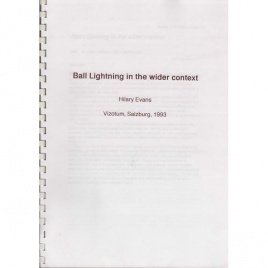 Evans, Hilary: Ball lightning in the wider context