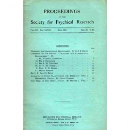 Proceedings of the Society for Psychical Research (1938-1956)