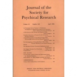 Journal of the Society for Psychical Research (1996-2000)