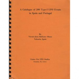 Ballester Olmos, Vicente-Juan: A catalogue of 200 type-I UFO events in Spain and Portugal