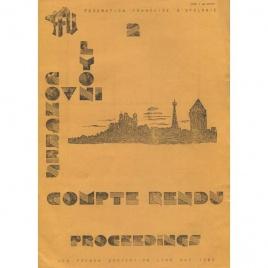 FFU Lyon Ovni Congres: Troadec, Jean-Pierre & Varrault, Richard: Congres Lyon. Compte rendu. Proceedings. UFO French convention Lyon, May 1983.
