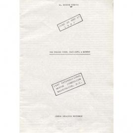 Pinotti, Roberto: The Italian scene, 1947-1987: a roundup