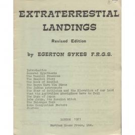 Sykes, Egerton: Extraterrestrial landings. Revised ed.