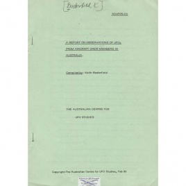 Basterfield, Keith: A report on observations of UFOs from aircraft crew members in Australia