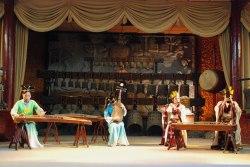 """Kinesiska musiker spelar """"Lianzhu"""""""