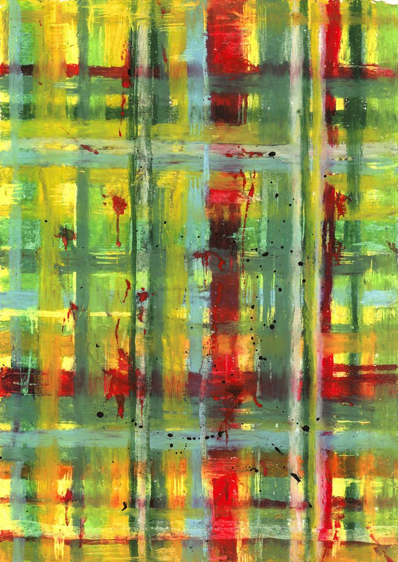 oljepastell och vattenfärg på akvarellpapper