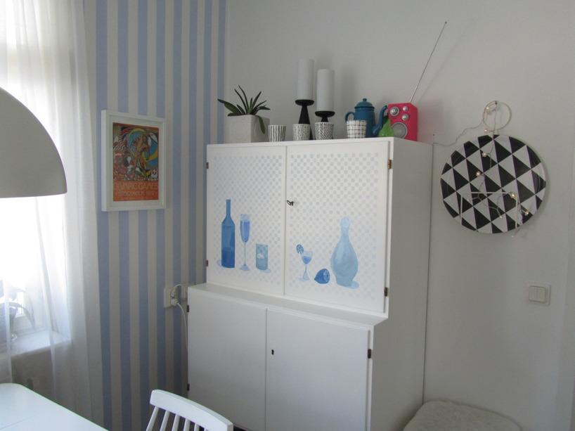 """Affisch Olympiska spelen i Stockhom, Barskåp och bricka """"plattan"""" i mitt kök"""