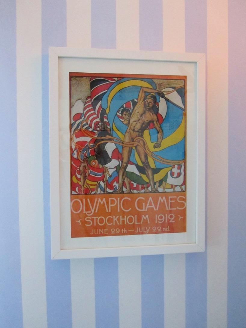 Affisch Olympiska Spelen i Stockholm 1912 på min köksvägg