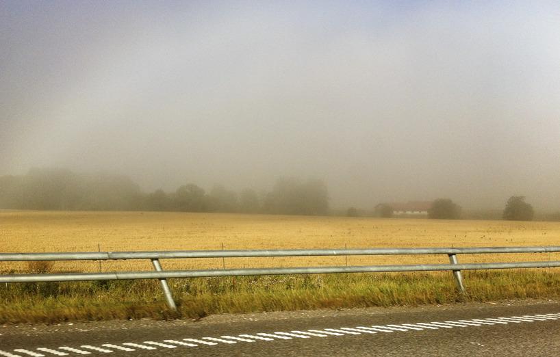 Dimma en varm dag på väg till Örebro