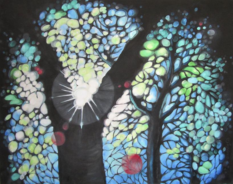 Akryl på duk 93 x 72 cm